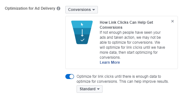 Facebook Ads Link Clicks to Conversion Optimization